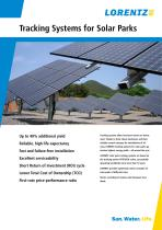 Tracking Systems for Solar Parks