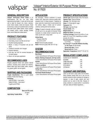Valspar® Interior/Exterior All-Purpose Primer Sealer