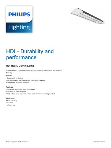 HDI - Durability and performance