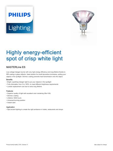 Highly energy-efficient spot of crisp white light