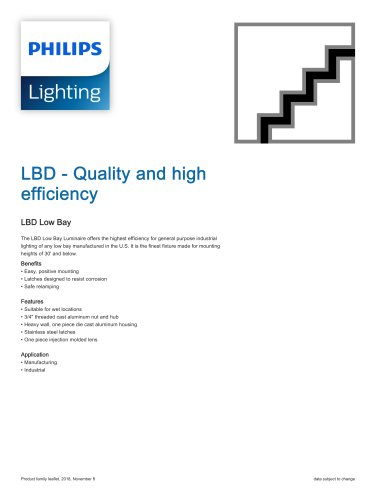 LBD - Quality and high efficiency