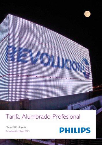 Tarifa Alumbrado Profesional - Marzo 2013 - España Actualización Mayo 2013