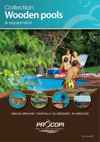 Collection Wooden pools & equipment
