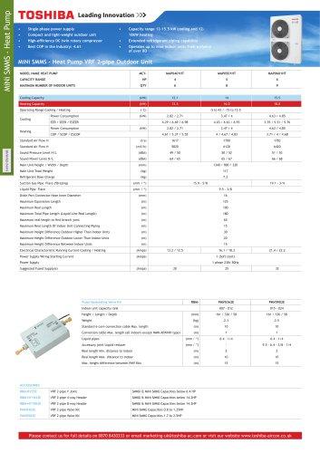 MiNi-SMMS VRF Heat Pump System