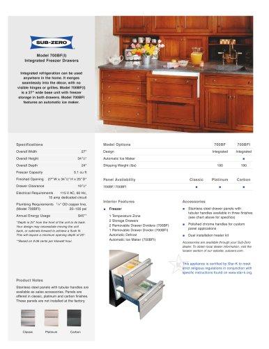 700BF Freezer Drawers