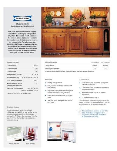 UC-24R All Refrigerator