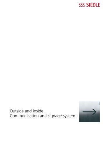 Outside and Inside - Communication and signage system 2009