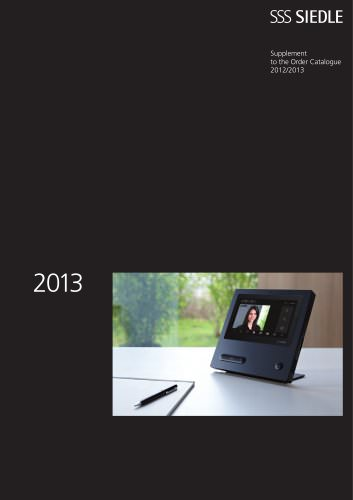 Supplement to the Order Catalogue 2012/2013