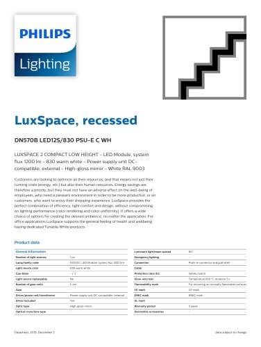LuxSpace, recessed