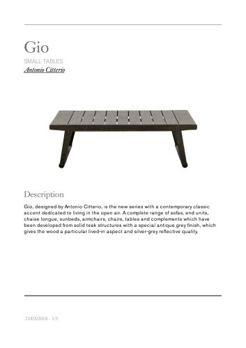 Gio small tables