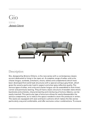 Gio sofas