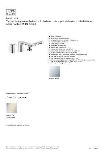 Bath - Lissé