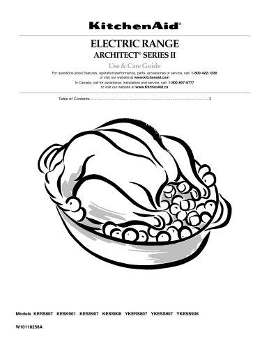 ELECTRIC RANGE ARCHITECT® SERIES II