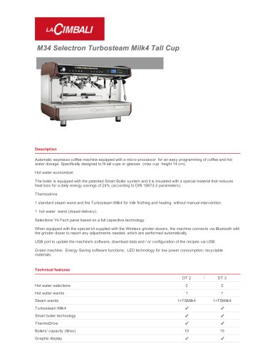 M34 Selectron Turbosteam Milk4 Tall Cup
