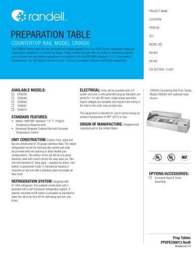 COUNTERTOP RAIL MODEL CR9000