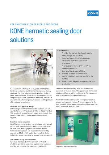 KONE hermetic sealing door solutions