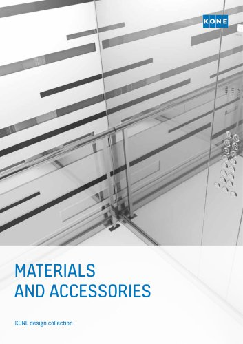 KONE MATERIALS AND ACCESSORIES