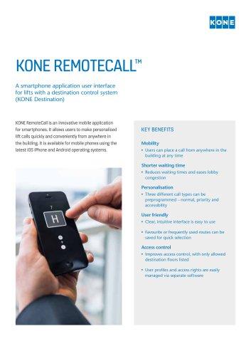 KONE REMOTECALL