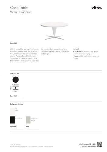 Cone Table Factsheet