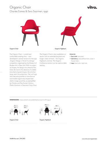 Organic Chair Factsheet