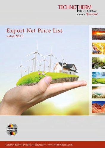 Price list 2015