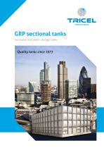 GRP Sectional tank