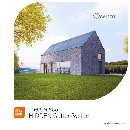 The Galeco HIDDEN Gutter System
