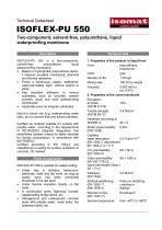 Technical Datasheet ISOFLEX-PU 550