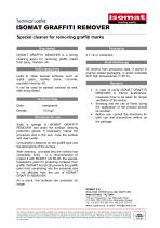 Technical Datasheet ISOMAT GRAFFITI REMOVER