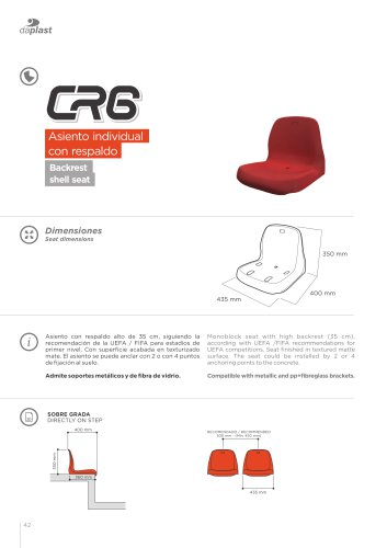 asientos CR6