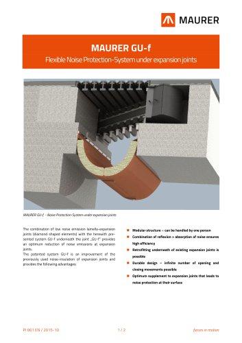 MAURER GU-f - Flexible Noise Protection-System under expansion joints