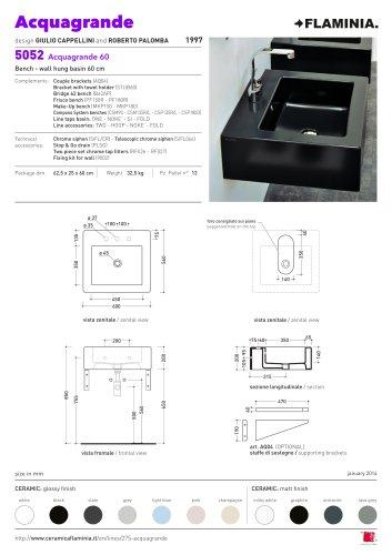 Acquagrande 60  bench - wall