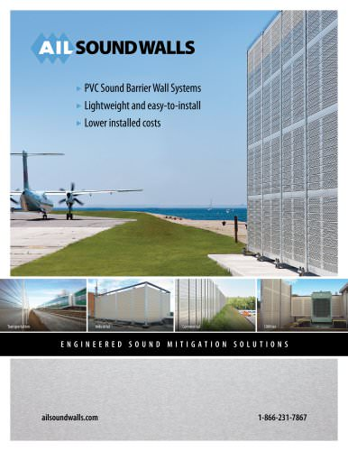 SOUNDWALLS - PVC Sound Barrier - Wall Systems . Lightweight and easy-to-install . Lower installed costs