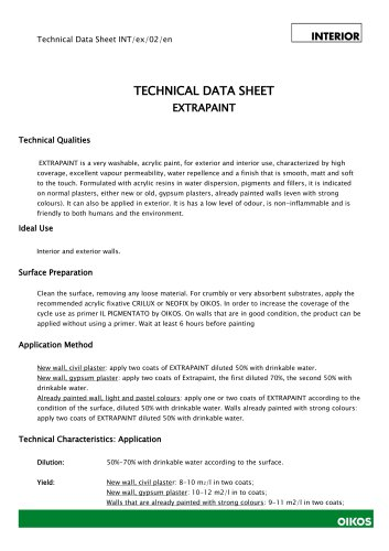 EXTRAPAINT TECHNICAL DATA SHEET