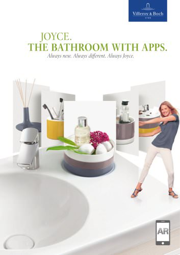 JOYCE. THE BATHROOM WITH APPS.