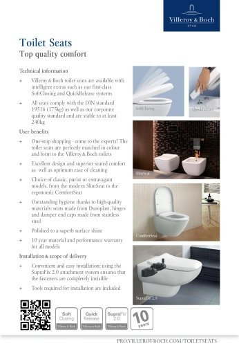 Toilet Seats - Top quality comfort