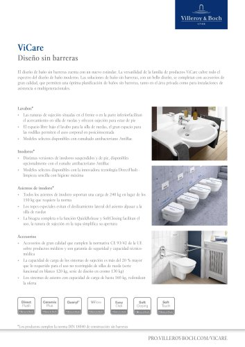 ViCare Factsheet ES Accessible Bathroom Design