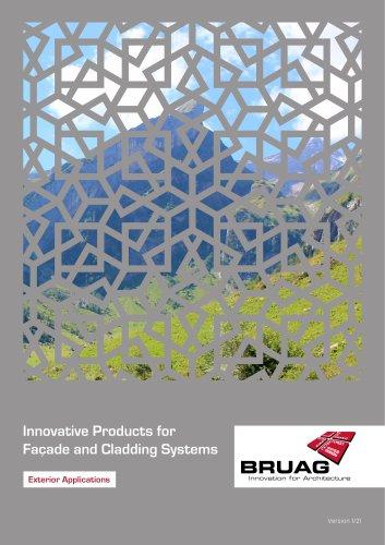 Brochure Exterior Application Bruag Panels (Facades, Balcony Balustrades, Balcony Acoustics, Garden Applications)