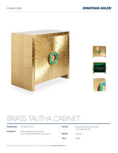BRASS TALITHA CABINET