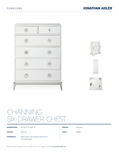 CHANNING SIX-DRAWER TALL CHEST