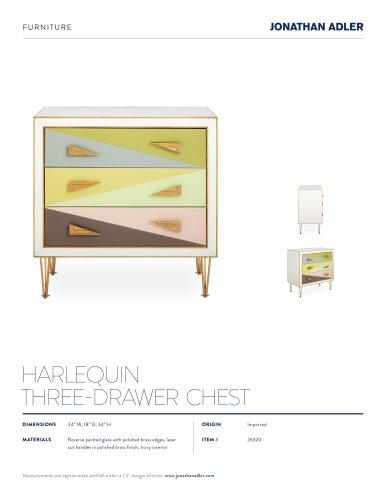 HARLEQUIN THREE-DRAWER CHEST