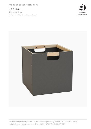 Sabine S torage box