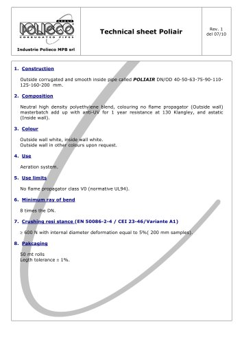 Technical sheet Poliair