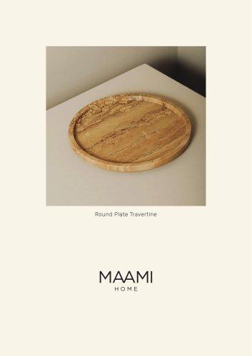 Round Plate Travertine factsheet