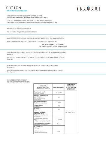 Cotton Technical Sheet