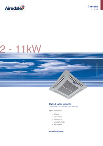 Chilled Water Cassette 2kW-11kW Sales Brochure (English)
