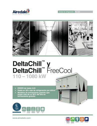 DeltaChill™ FreeCool 110-1080kW Sales Brochure (Spanish)