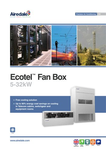 Ecotel™ FreeCool Fan Box 5-32kW Sales Brochure (English)