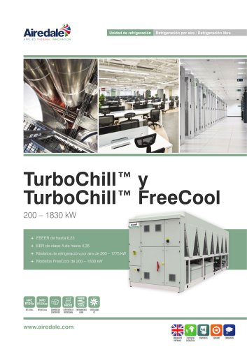 TurboChill™ FreeCool R1234ZE 200kW-1830kW Sales Brochure (Spanish)