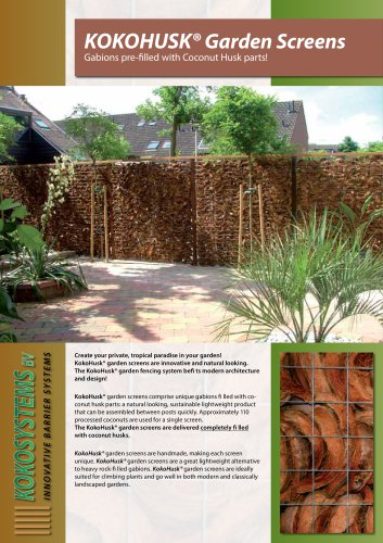 KOKOHUSK Gardenscreen